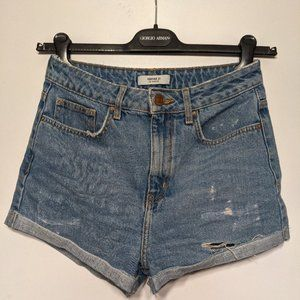 Forever 21 | Women's Cuffed Distressed Jean Shorts
